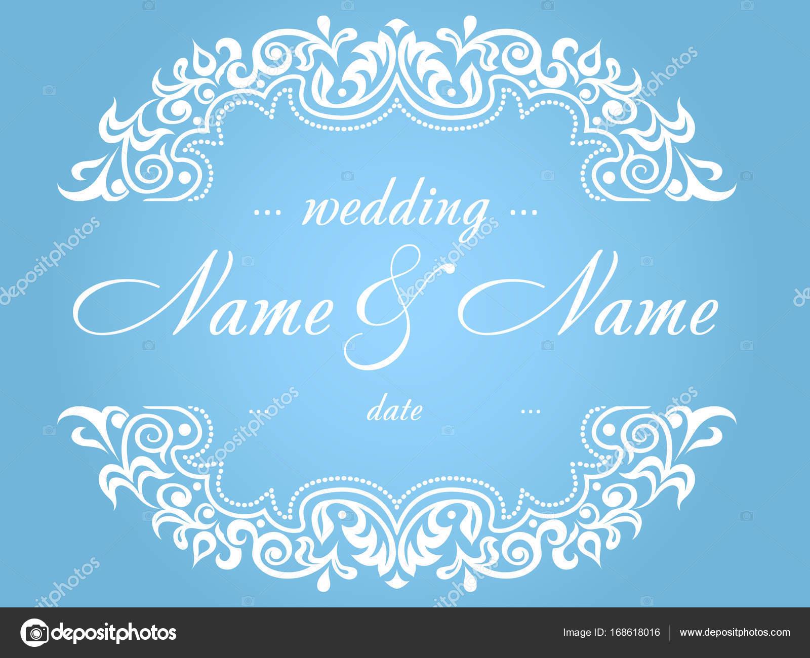 78dbb9c60b kék és fehér színű, hogy egy esküvői meghívó — Stock Vektor © Yak ...