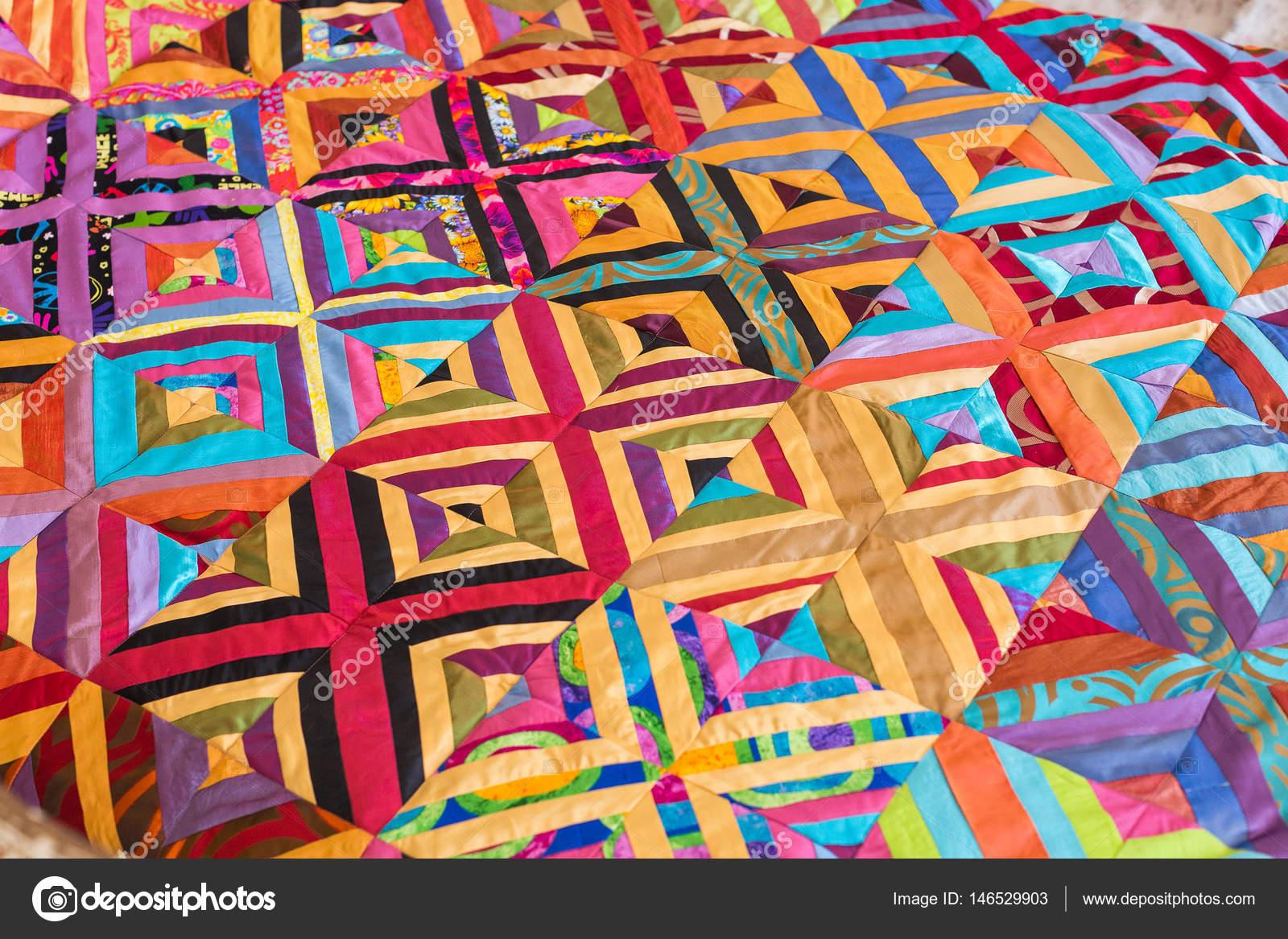 Teil des symmetrischen Geometrie Muster Farbe Flickenteppich als ...