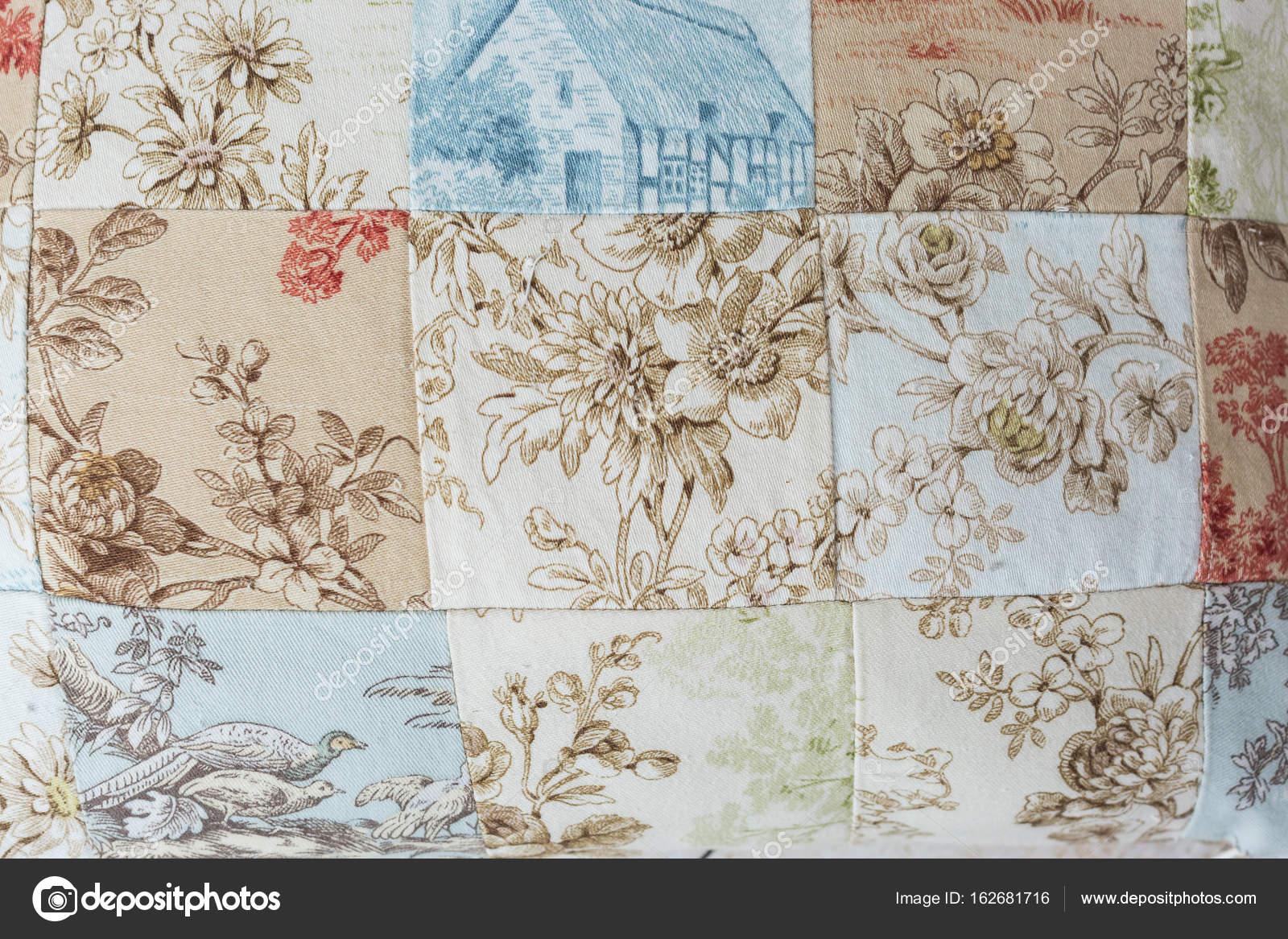 patrón, patchwork, fabricación de concepto. primer plano de dibujo ...