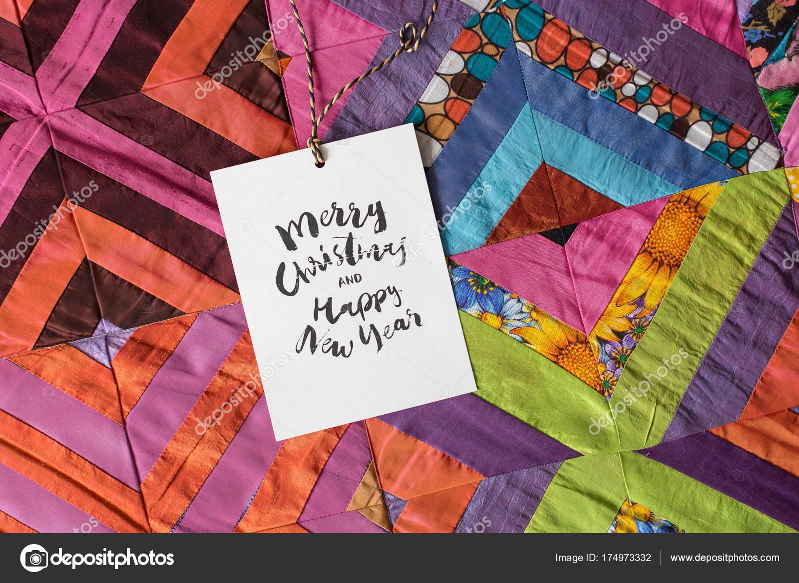 Weihnachten, Nähen, Geschenk-Ideen. Quadrate von textilen Patches ...