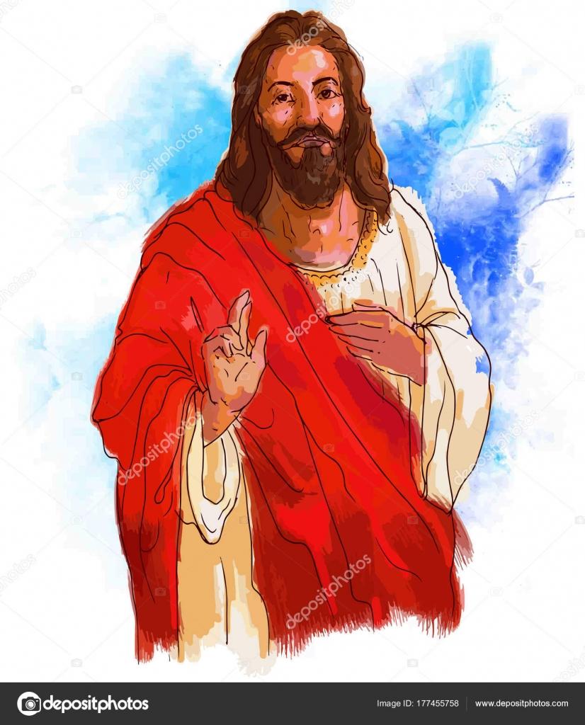 Painting style illustration jesus christ yeshu painting style illustration jesus christ yeshu voltagebd Images