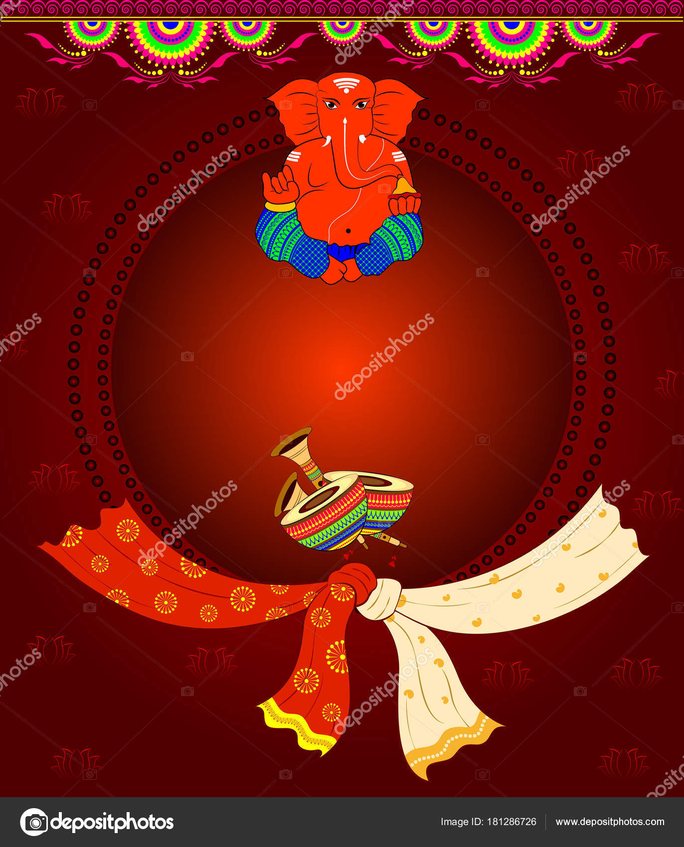 Design Indian Marriage Invitation Cards — Stock Vector © ColorBolt ...