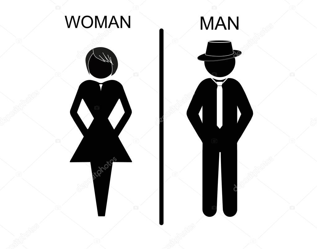 Vector Iconos De Hombre Y Mujer