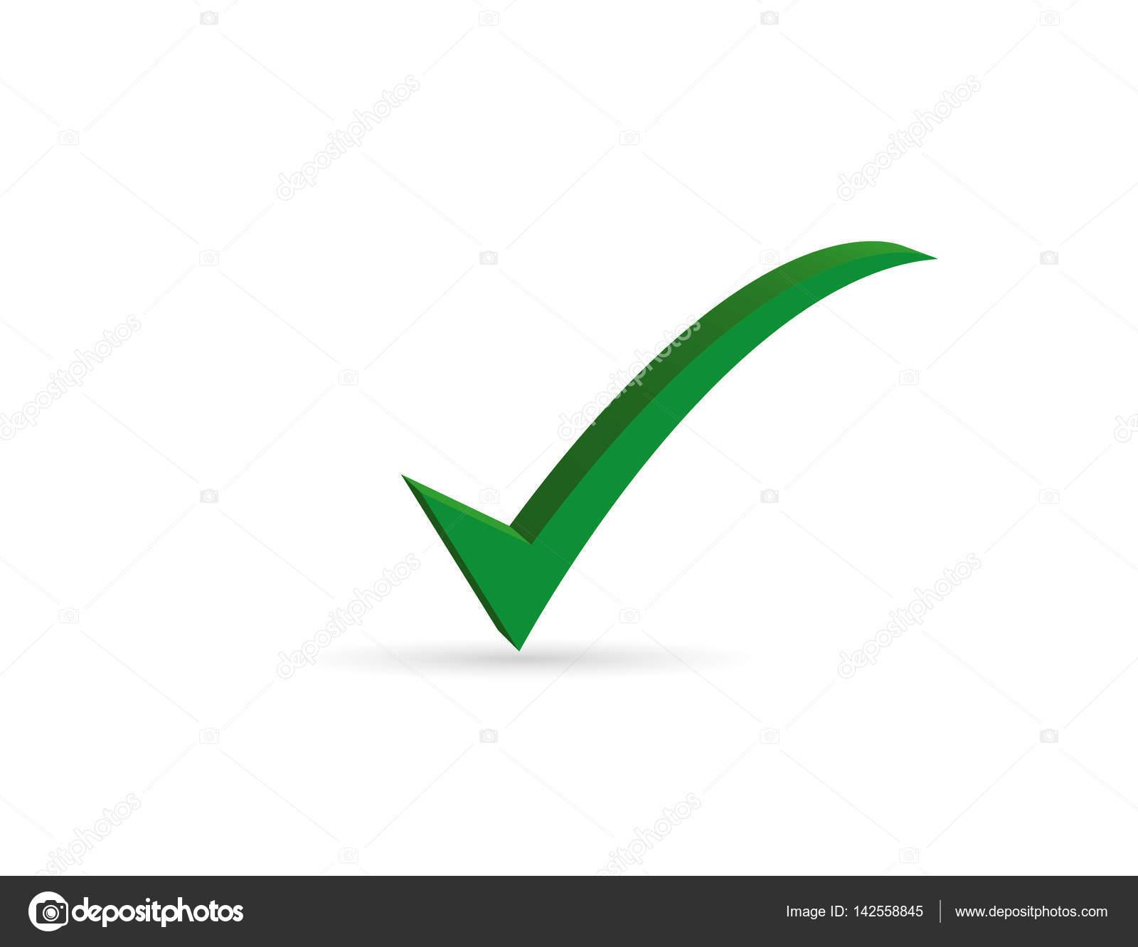 Green Check Mark Symbol Stock Vector Miztanya 142558845