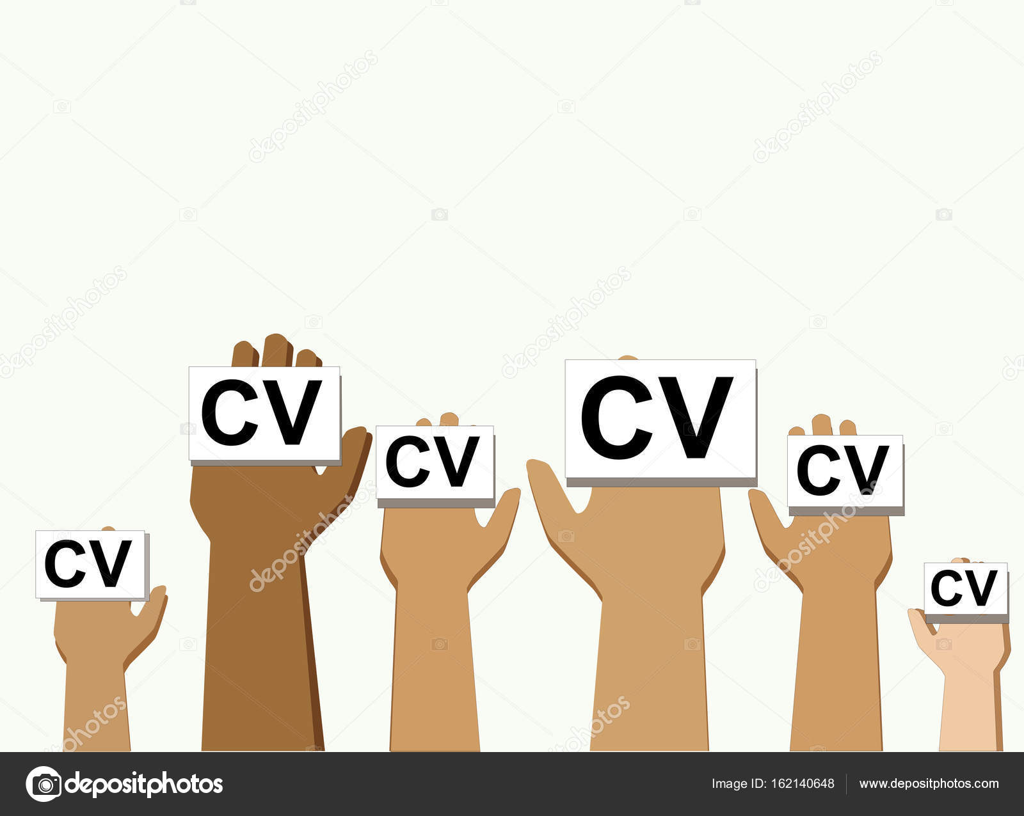 Hände-Gruppe halten Cv Profil Kandidat berufliche Stellung ...