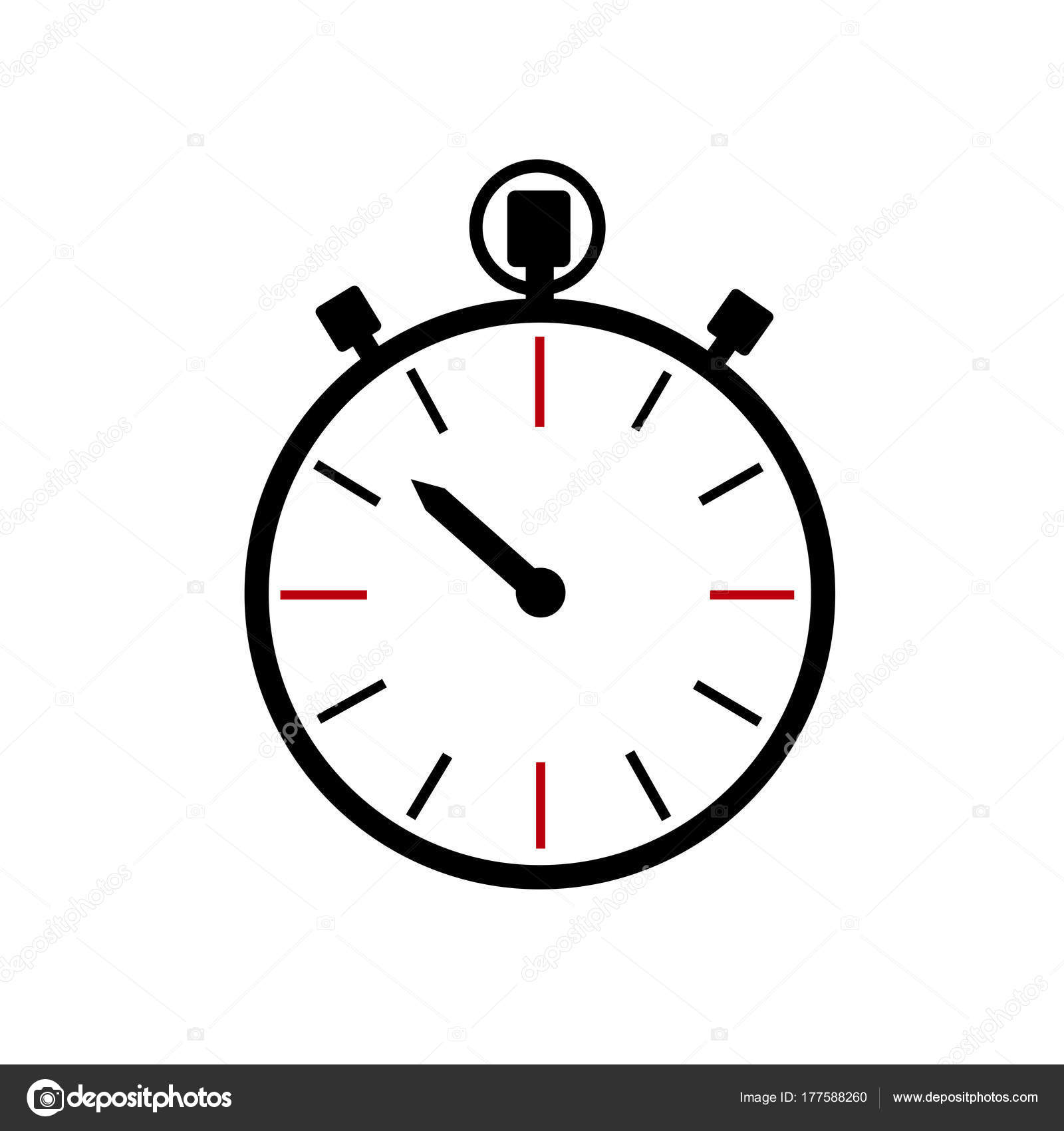 Stopwatch Icon Clock Logo — Stock Vector © miztanya #177588260