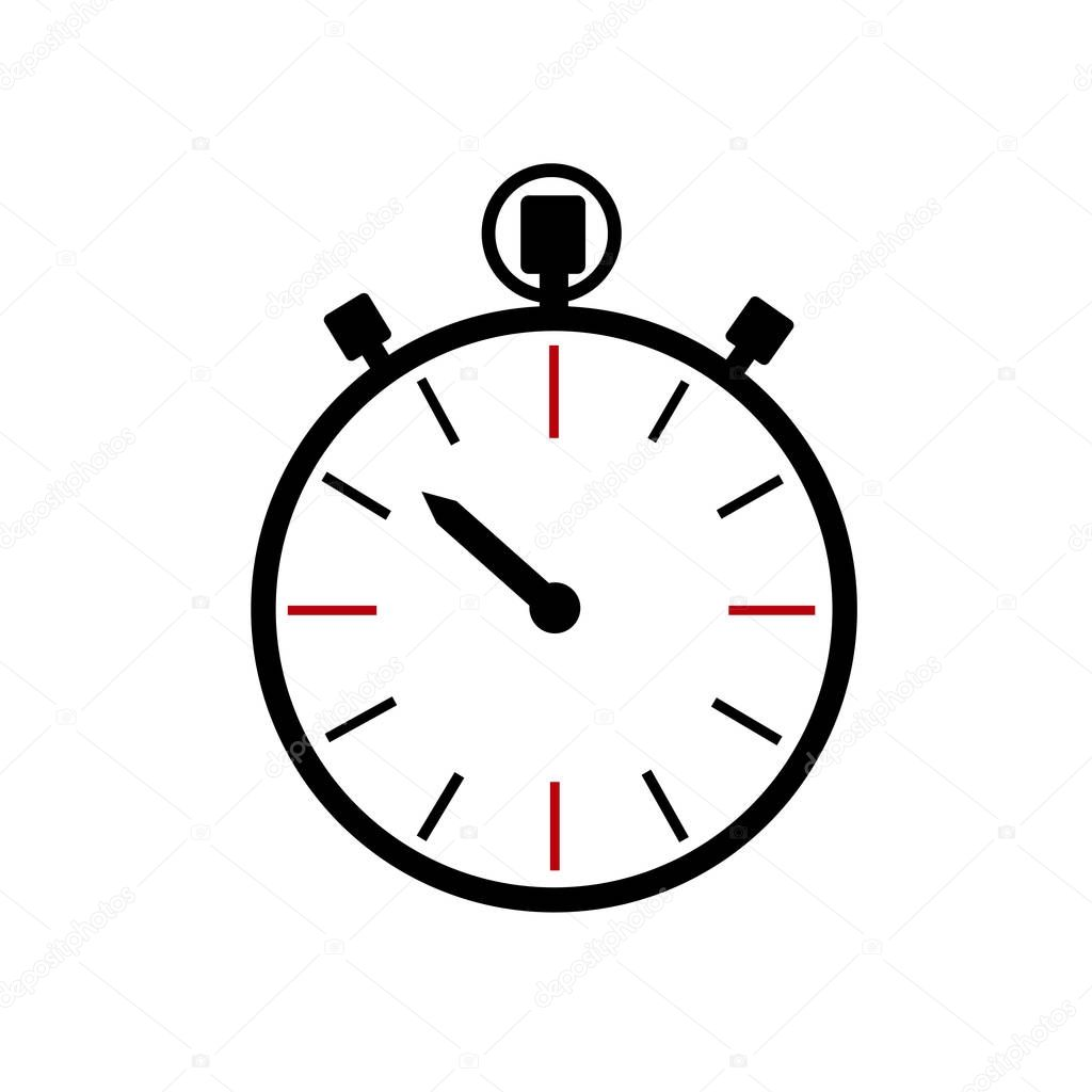 stopwatch icon clock logo  u2014 stock vector  u00a9 miztanya  177588260