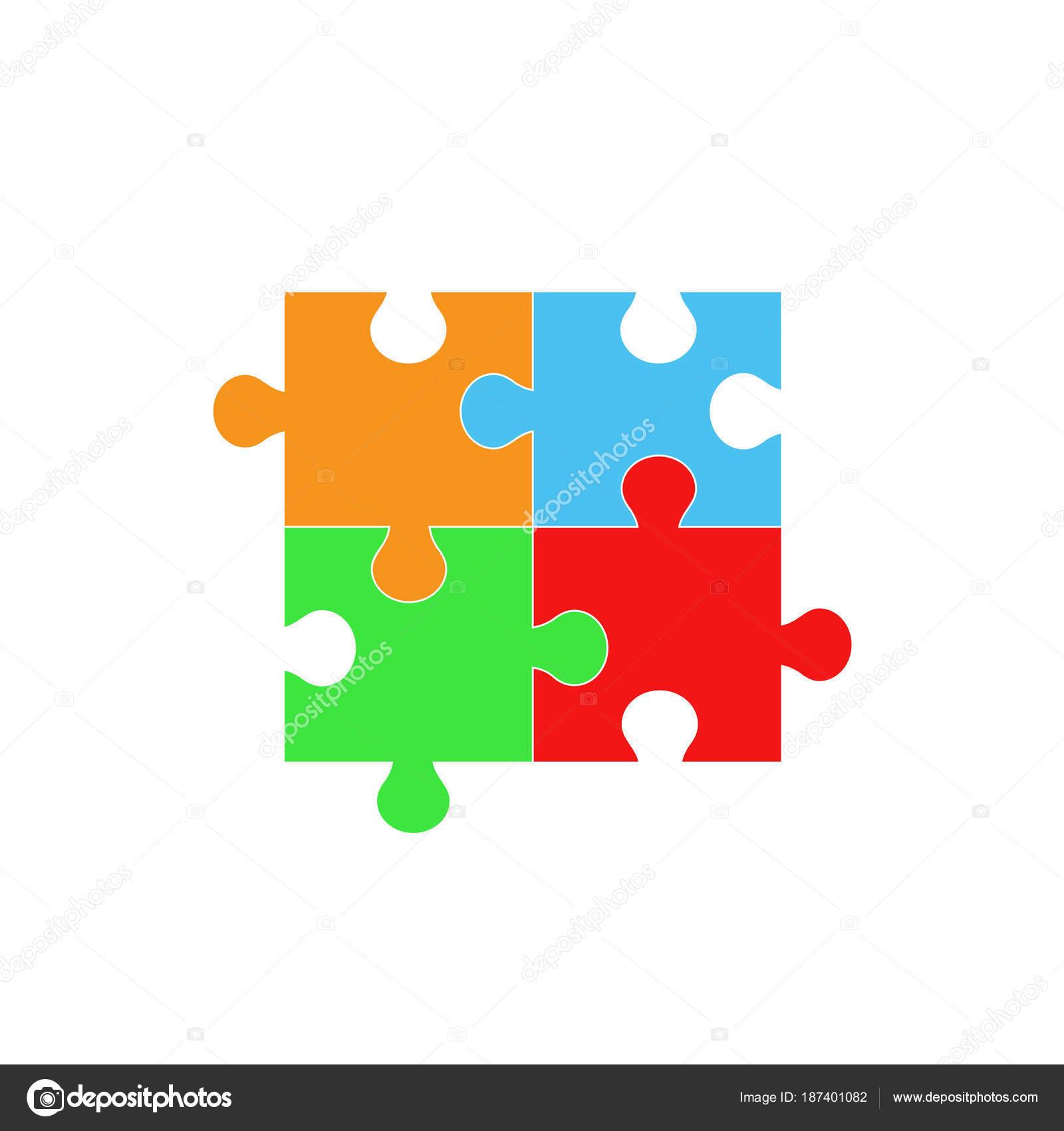 Jigsaw Puzzle Symbol Icon Vector Illustration Graphic Design Stock
