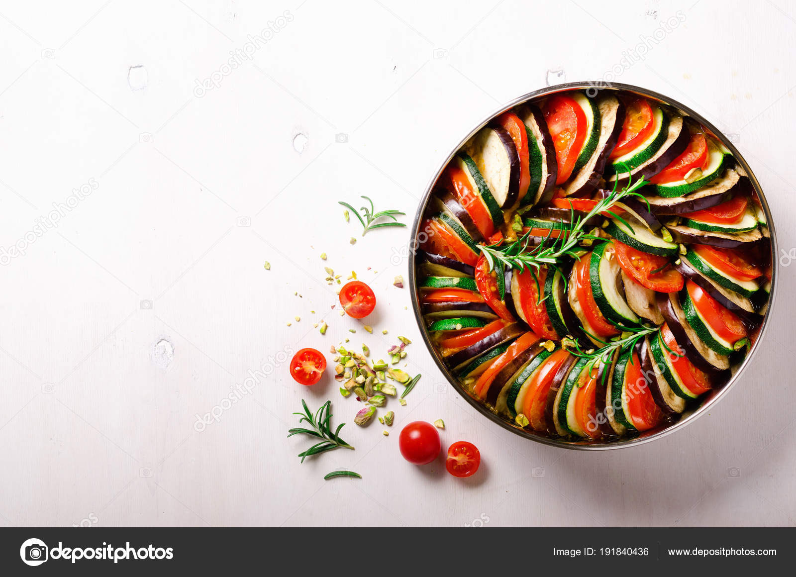 Ratatouille Traditional Homemade Vegetable Dish Vegetarian Vegan Food Copy Space Banner Stock Photo C J Chizhe 191840436