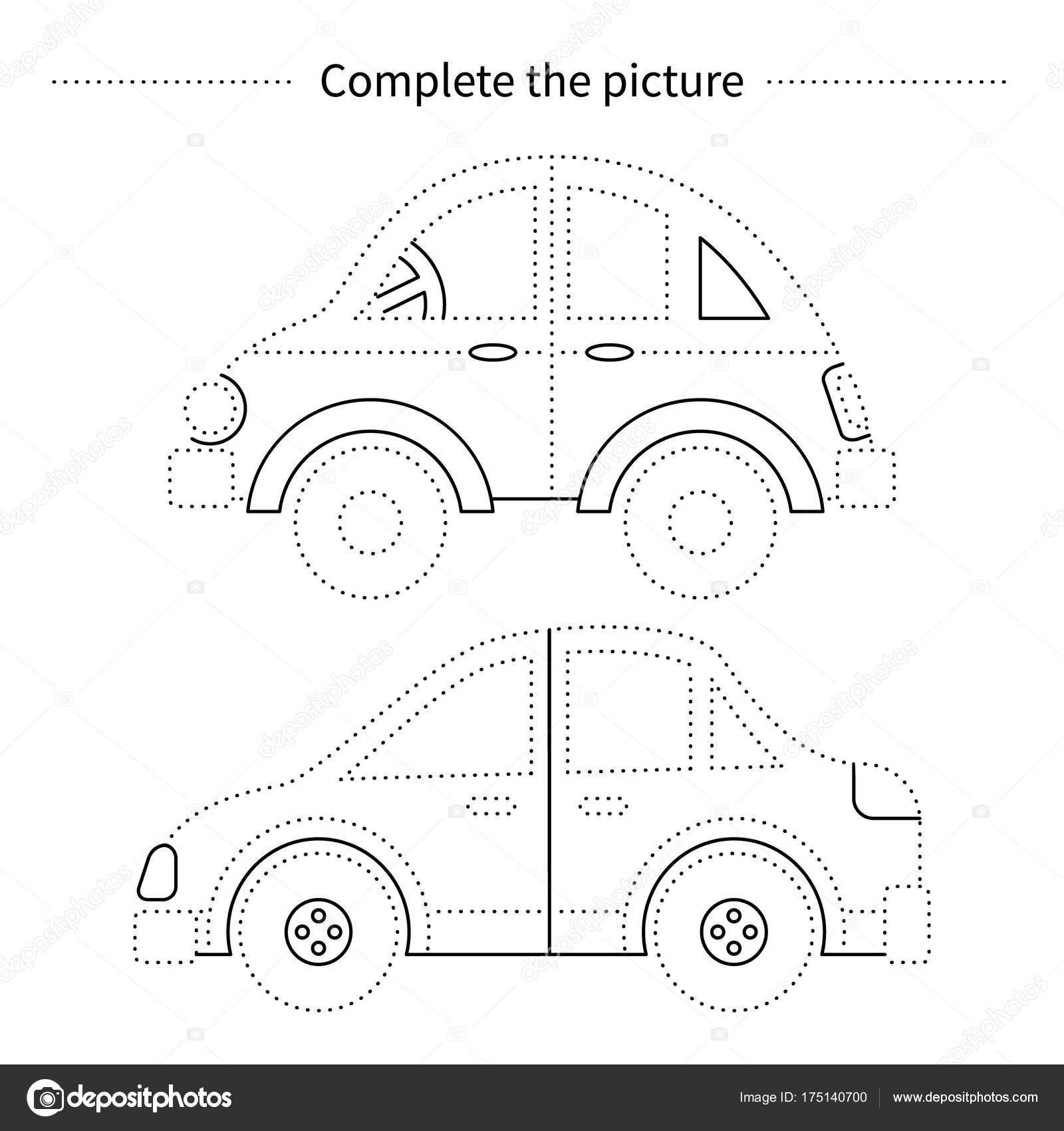 Araba Resmi Tamamlamak Stok Vektör Ninafedorova 175140700