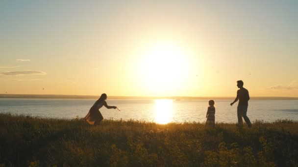 Rodina hrát Frisbee