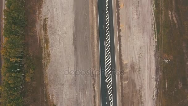 top view on highway
