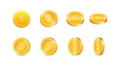Gold coins illustration