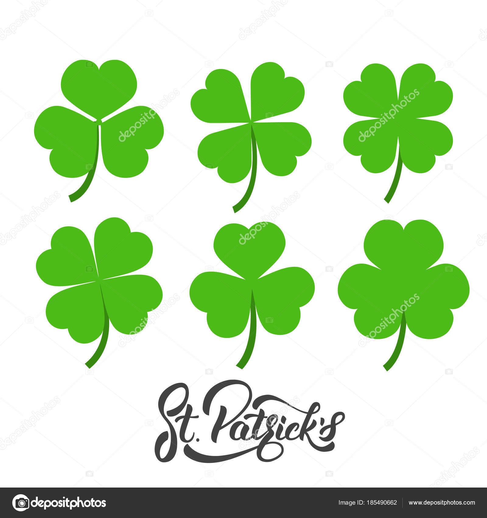 Día De San Patricio Conjunto De Tréboles De Irlandesas