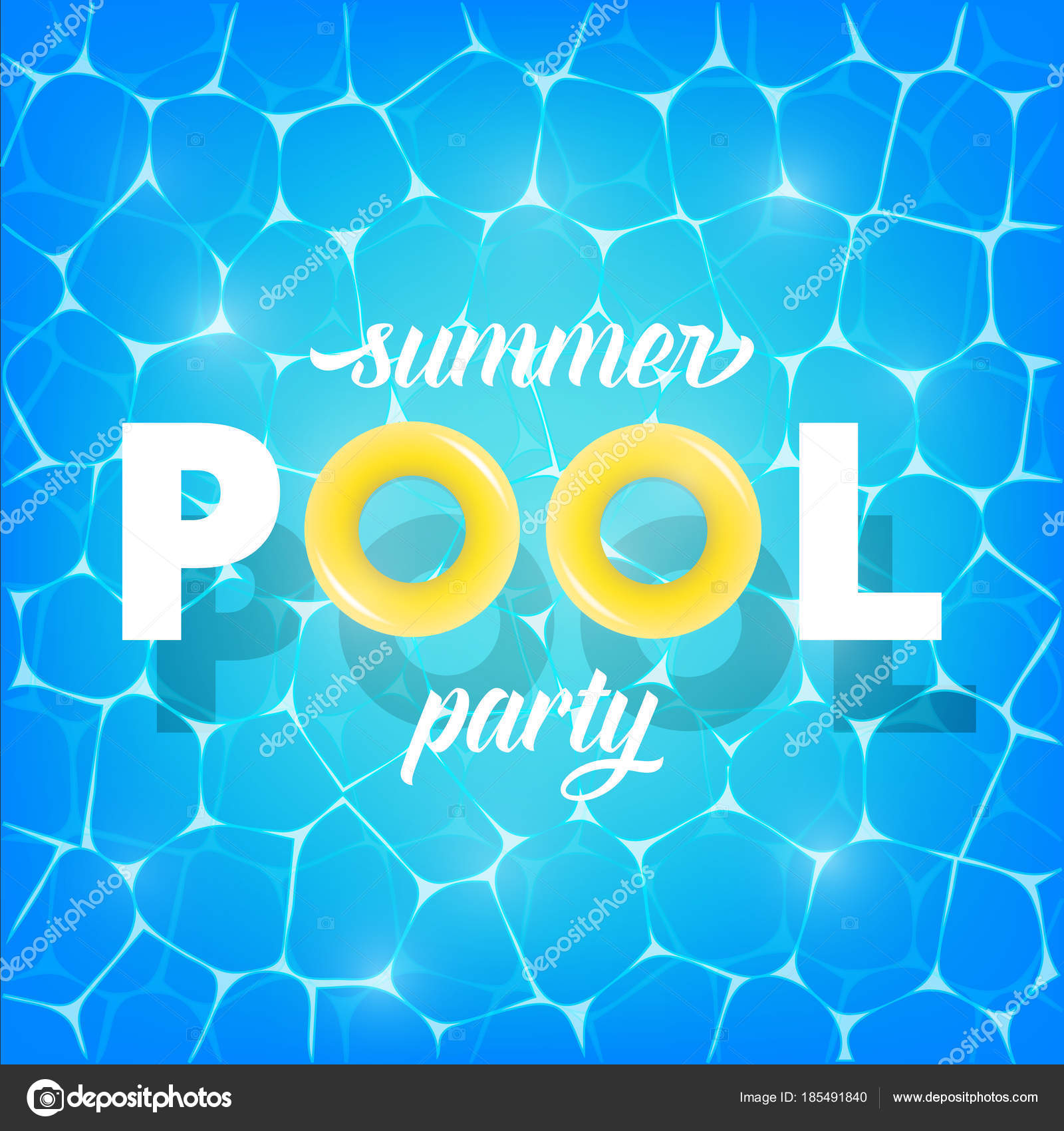 Pool-Party. Abbildung des Sommer-Pool-Party-Einladung, banner ...