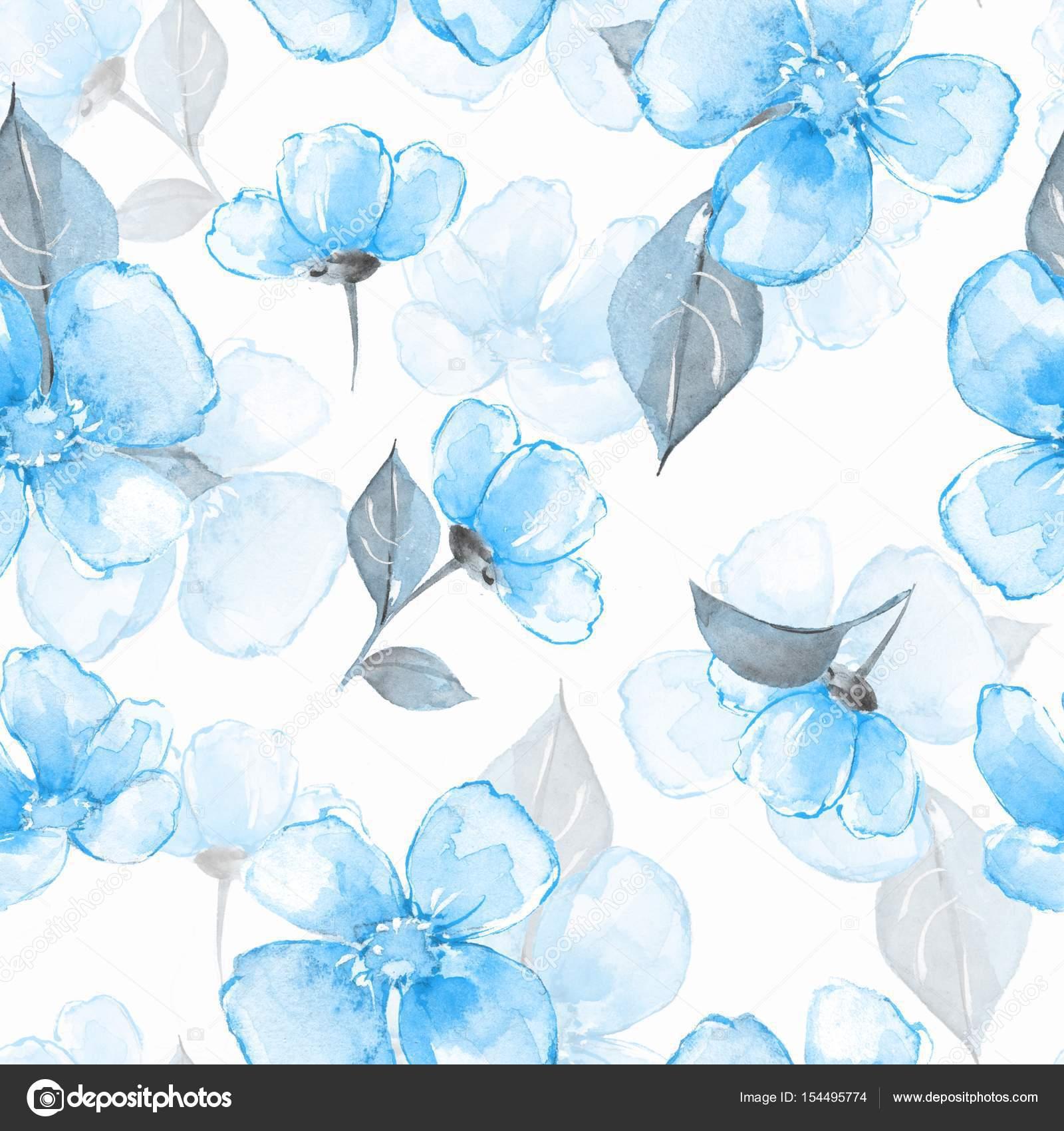 Fondo Flores Azules