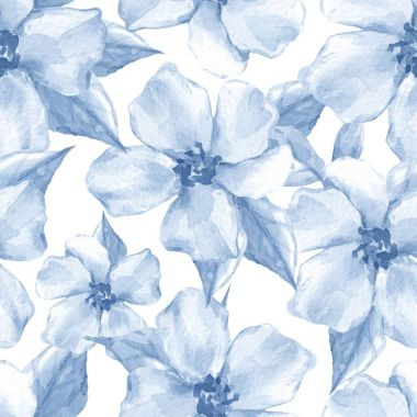 Blue floral seamless pattern 2