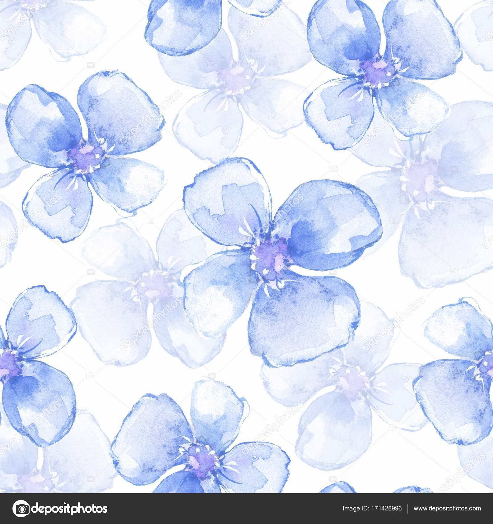 fc7b417d37e7 Nahtlose Blumenmuster mit blauen Blumen 3 — Stockfoto © Gribanessa ...