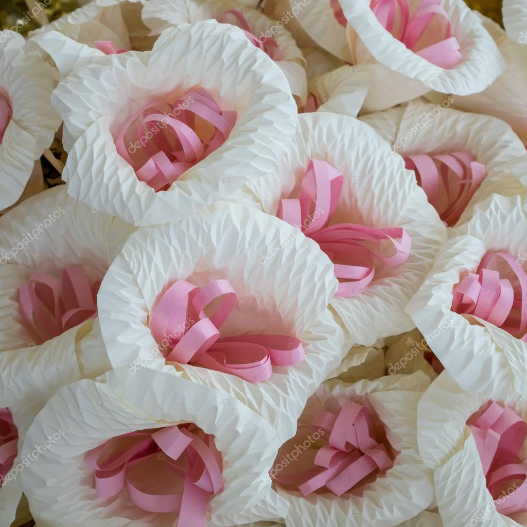 Thai Funeral Flower Artificial Flower Use For Cremation Stock