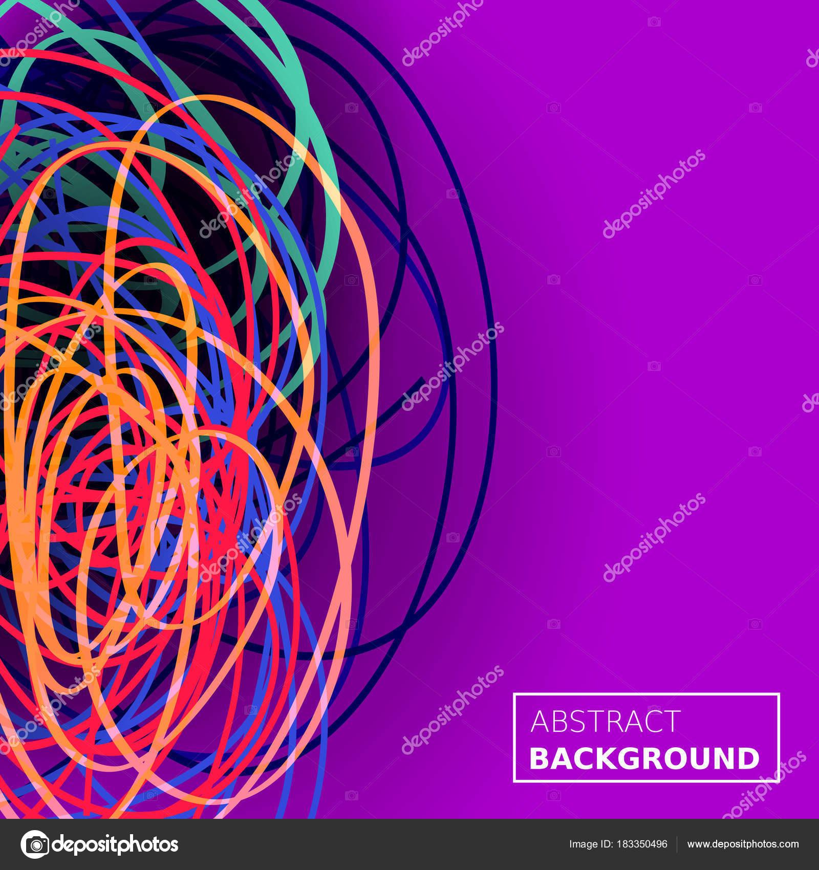 Fondo del caos de hilos. Composición de líneas abstractas. Fondo de ...