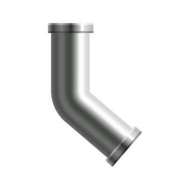 Pipe stainless steel, metallic plumbing fittings pipeline. Water, fuel or gas pipes sewage, oil refinery industry pipeline, house sewer. Construction and industrial pressure technology. Realistic