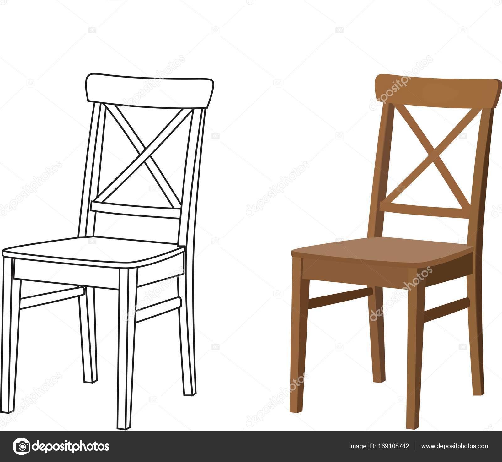 modelos 3D de la silla Vector de stock 7koluchka7 169108742