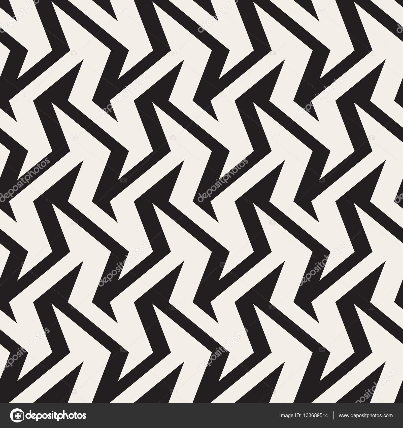 Efecto de ilusión óptica de rayas zigzag nervioso. Vector ...