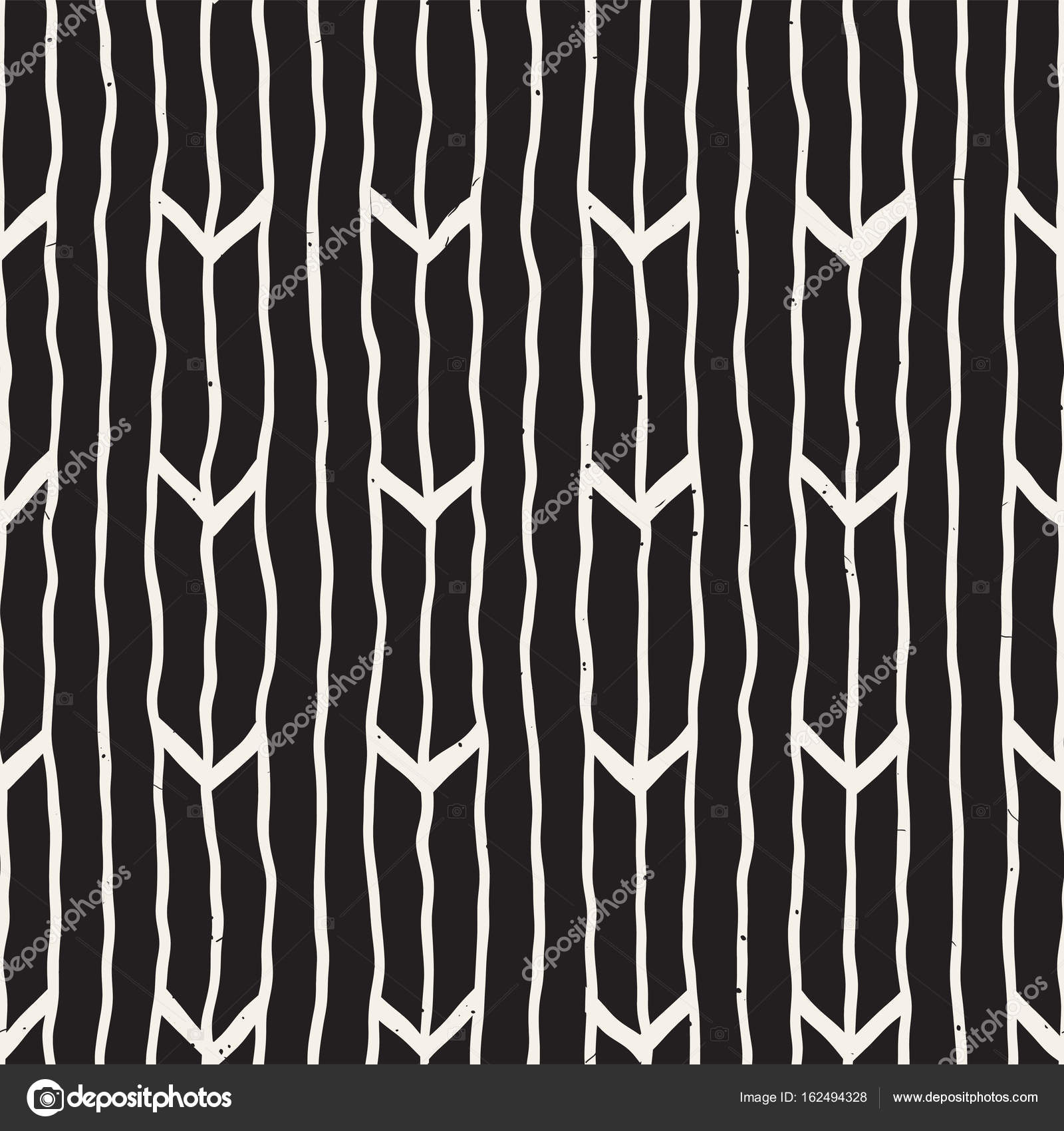Seamless pattern with hand drawn brush strokes  Ink doodle