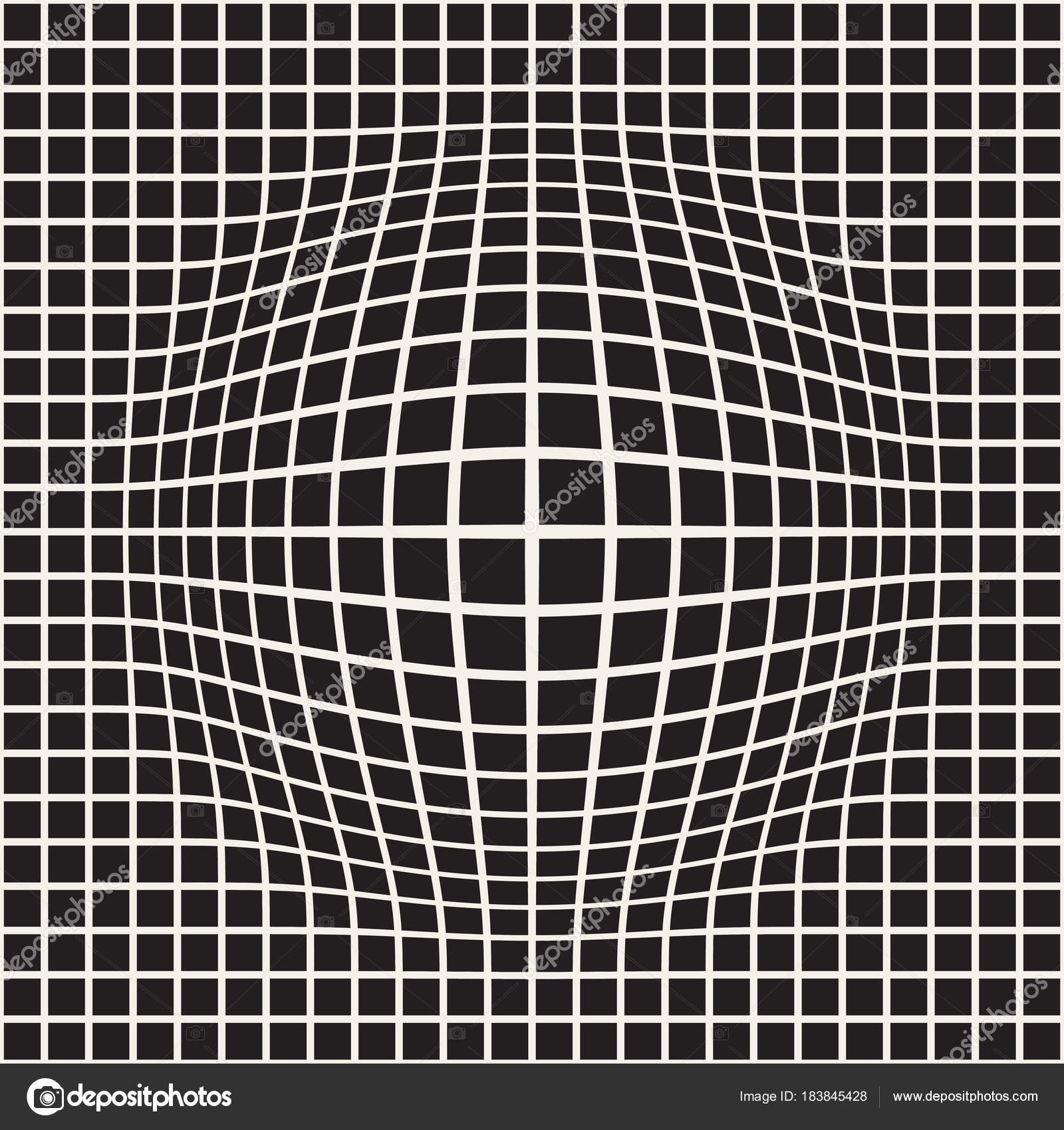 7dfc0c964 Meio-tom inchar efeito ilusão de óptica. Desenho abstrato geométrico. Sem  costura padrão preto e branco de retrô vector — Vetor de ...