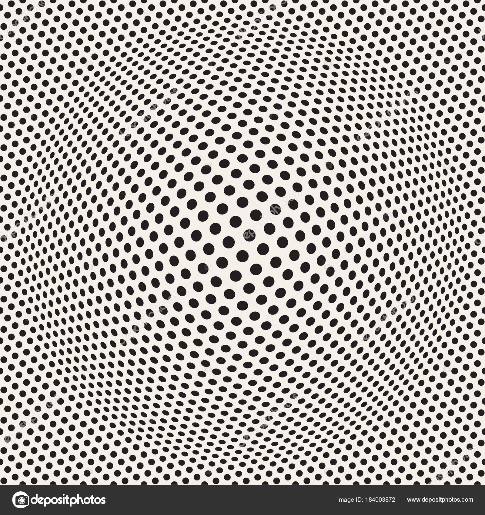 dce626ac9 Meio-tom inchar efeito ilusão de óptica. Desenho abstrato geométrico. Sem  costura padrão preto e branco de retrô vector — Vetor por ...