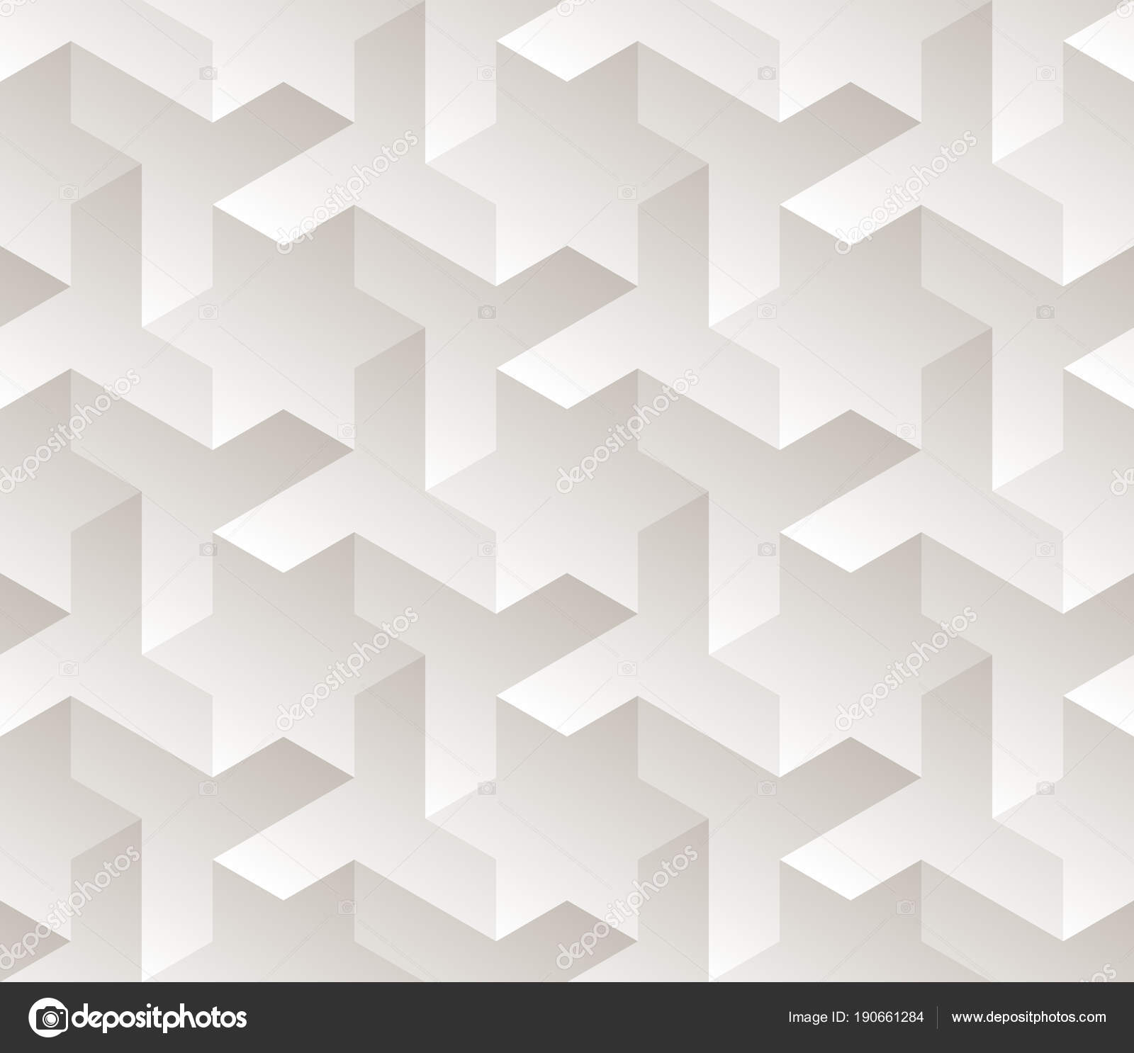 Vector Seamless Black And White Gradient Geometric Star Triangle Shape Tessellation Subtle Pattern Stock