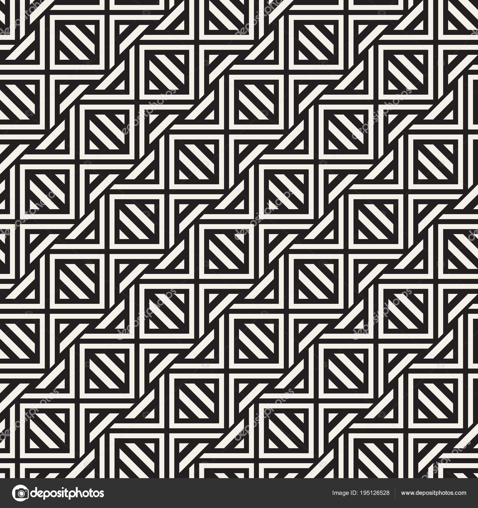 Vector Seamless Pattern Modern Stylish Abstract Texture Repeating Geometric Tile