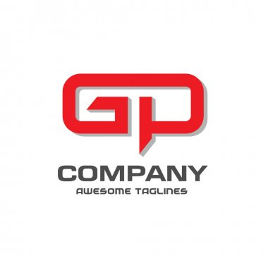GP letter logo design vector illustration