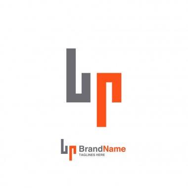 BP letter logo design vector