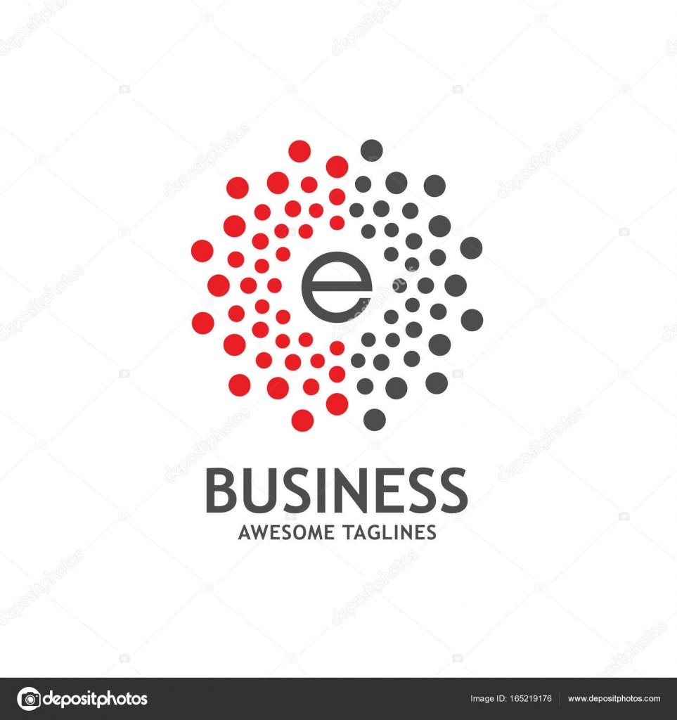 Lettre E Avec Cadre Cercle En Pointille Vecteur Image Vectorielle
