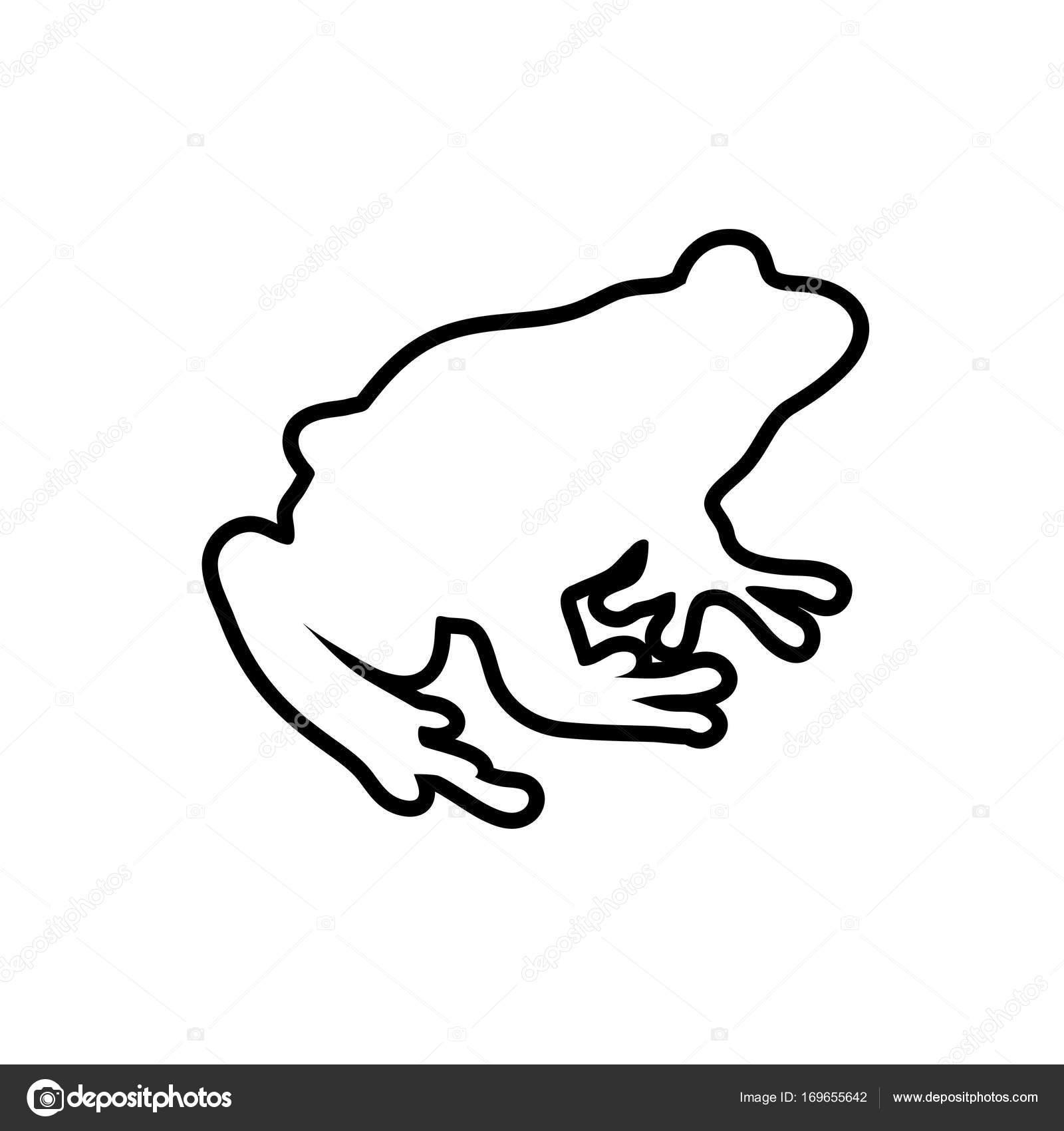 Frosch-Linien Vektor-illustration — Stockvektor © krustovin #169655642