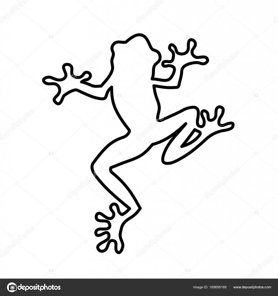 Frosch-Linien Vektor-illustration — Stockvektor © krustovin #169656168