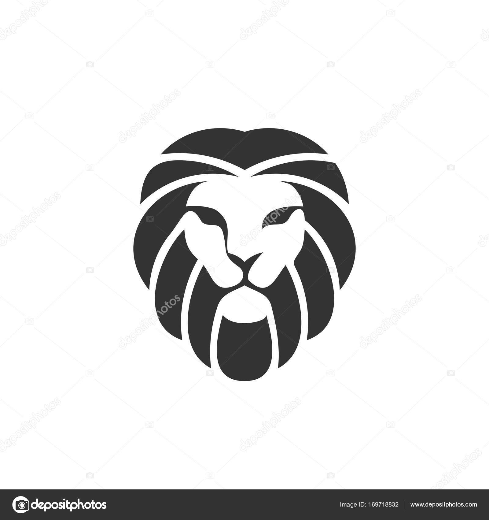 ライオンのロゴのデザイン テンプレート ストックベクター krustovin