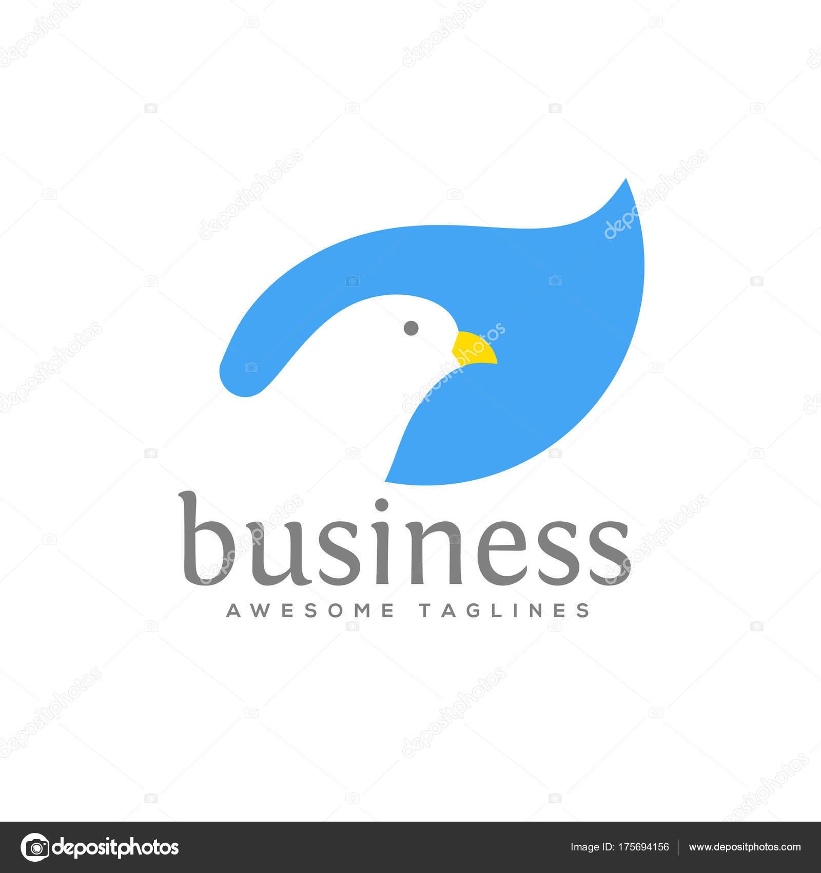 Dove Vector Logo Concept Illustration Falcon Bird Logo Animal Rescue