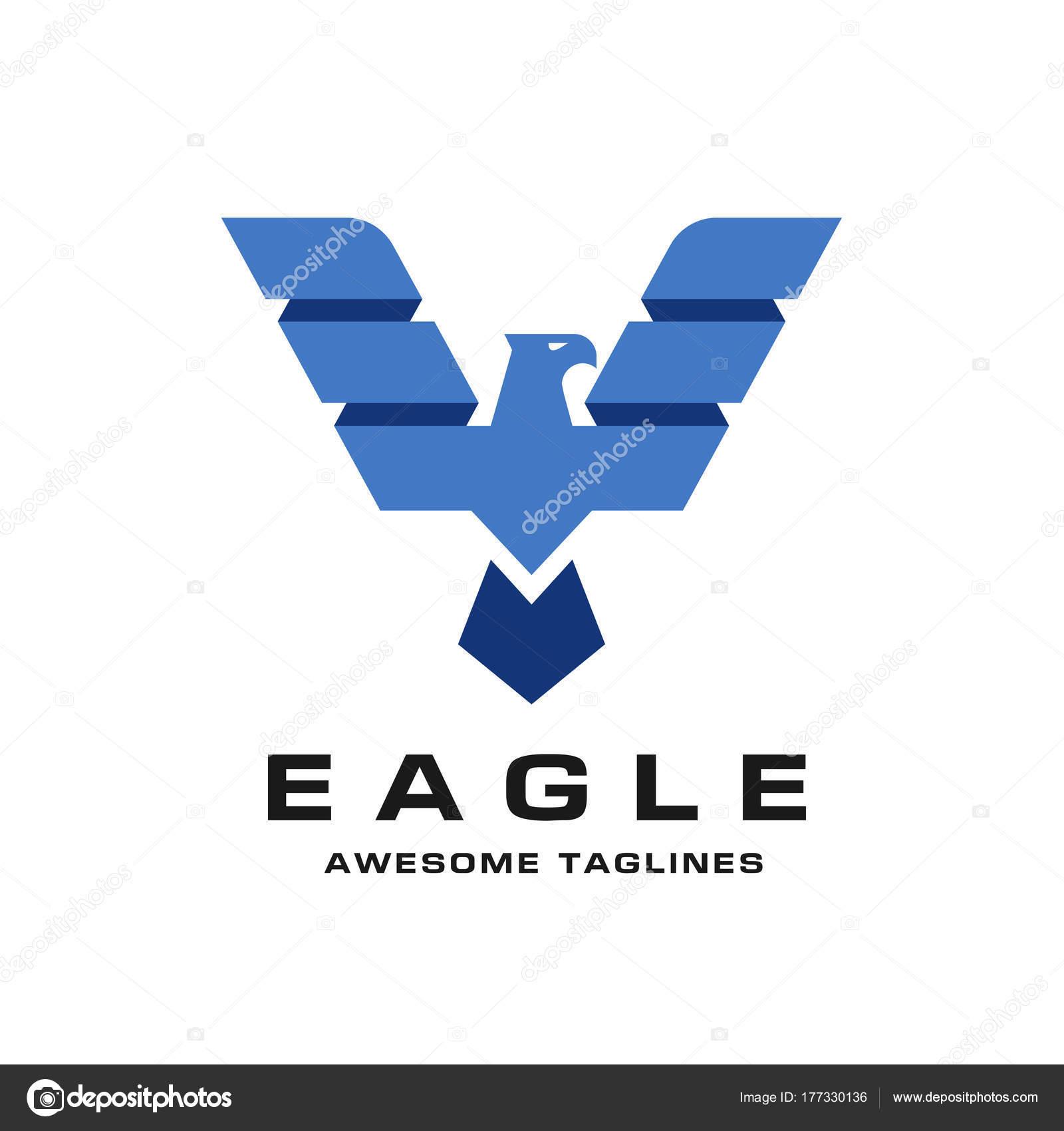eagle creative wings logo template hawk mascot graphic bald eagle