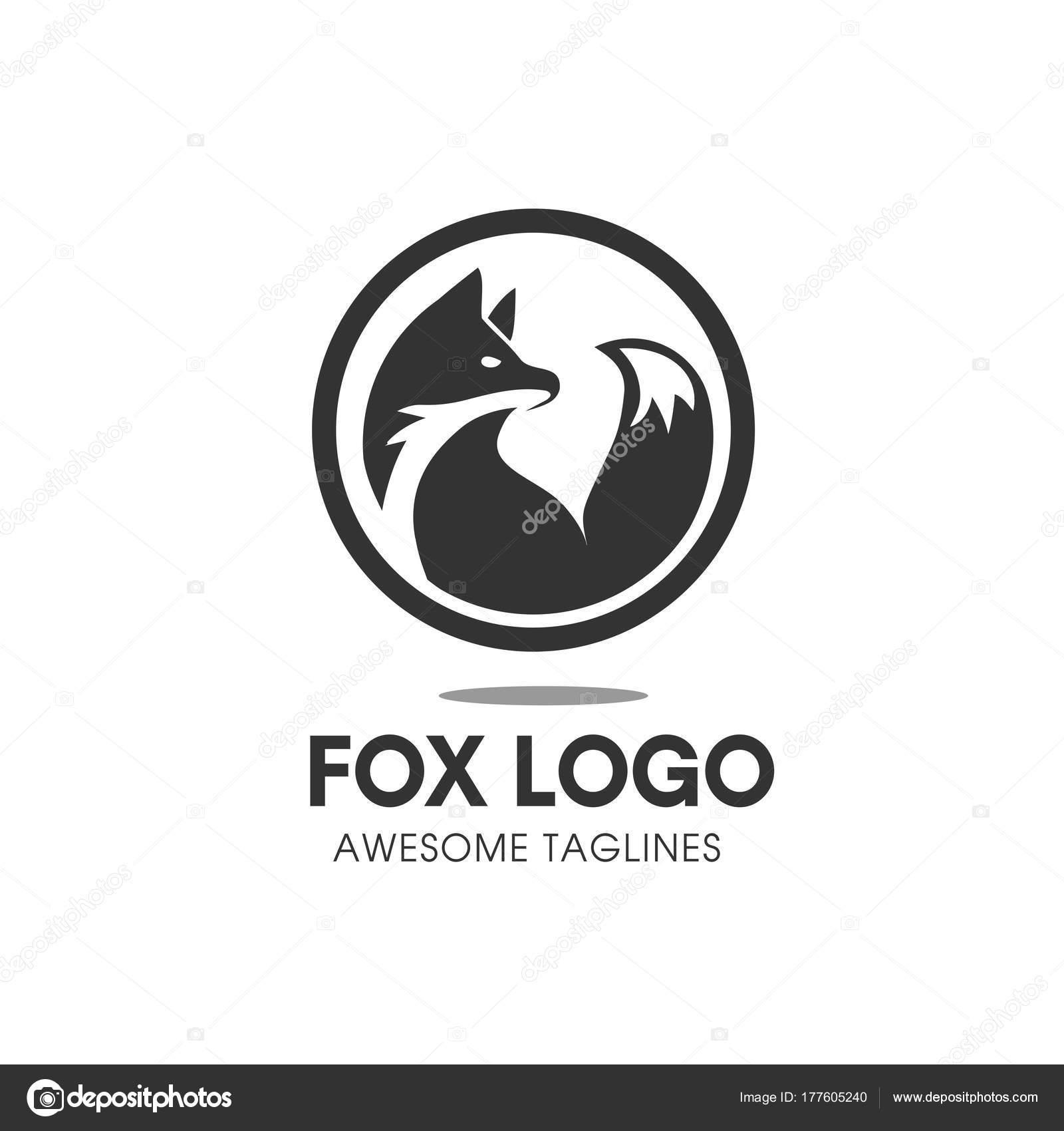 Círculo Vector Símbolo Del Zorro Zorro Signo Logo Plantilla Fox ...