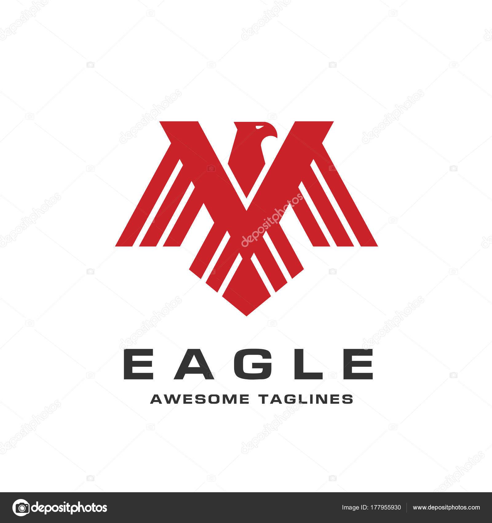 Eagle Head Logo Template Hawk Mascot Graphic Bald Eagle Vector