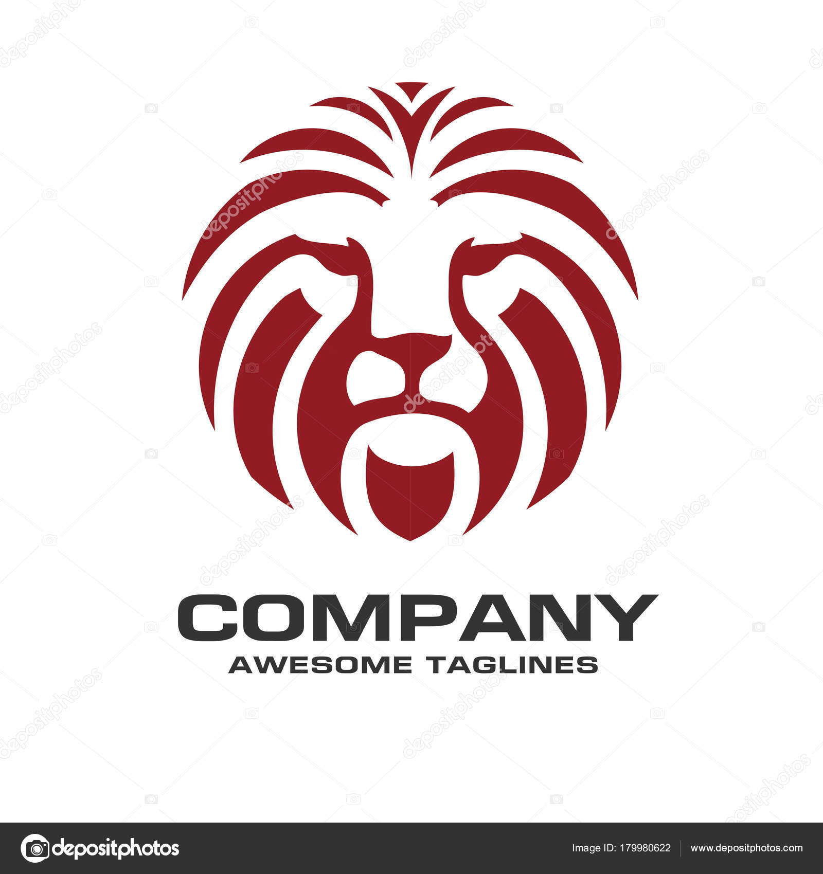 Lion head red color logo vector lion king head sign stock vector lion head red color logo vector lion king head sign stock vector biocorpaavc Gallery