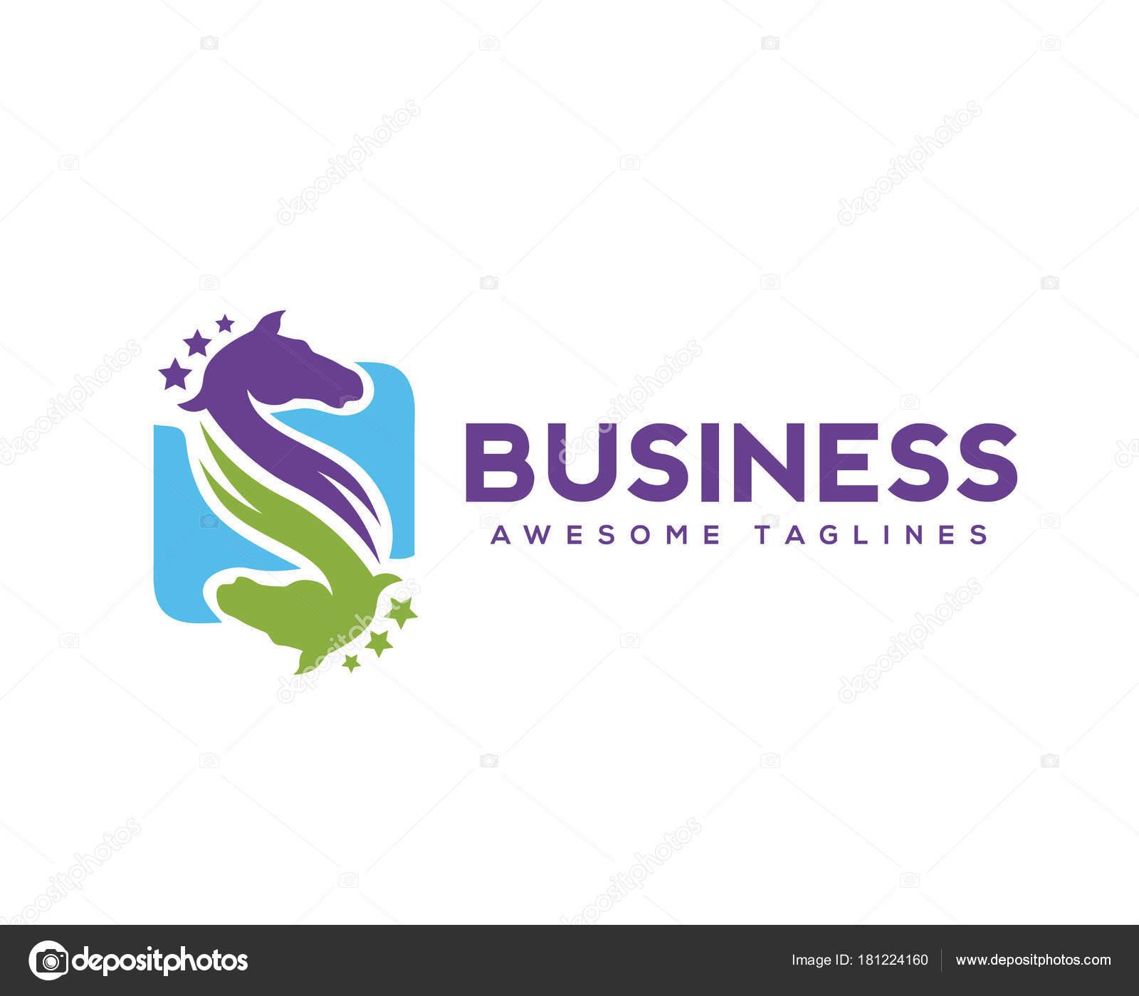Two Horses Logo Letter Form Two Horses Letter Horse Head Logo Emblem Playful Stock Vector C Krustovin 181224160