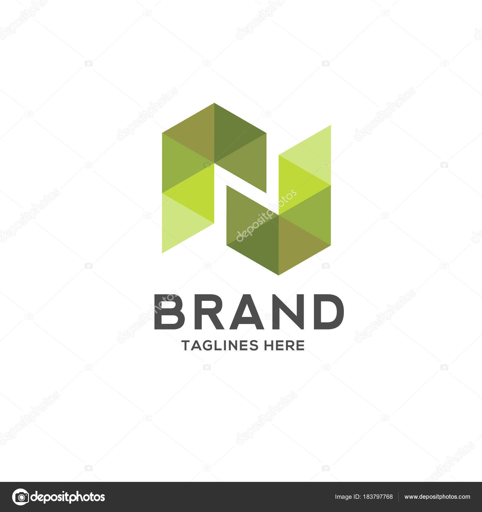 letter colorful geometric logo logo initial letter business