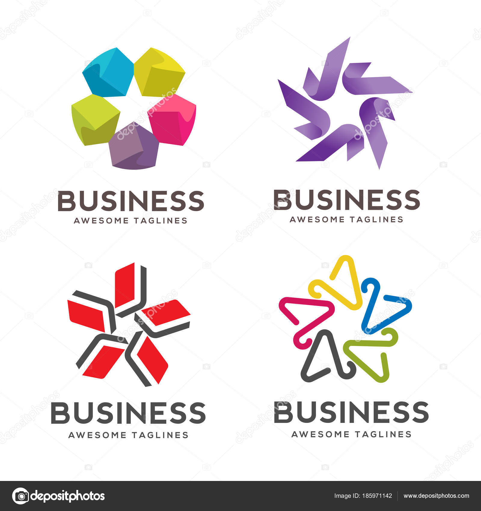 Kollektion Star Symbole Und Logos Star Logo Vorlage Besten Sterne ...