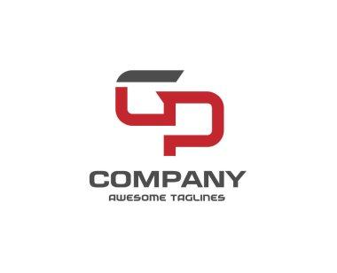letter gp logo design vector illustration template, letter g and p logo vector