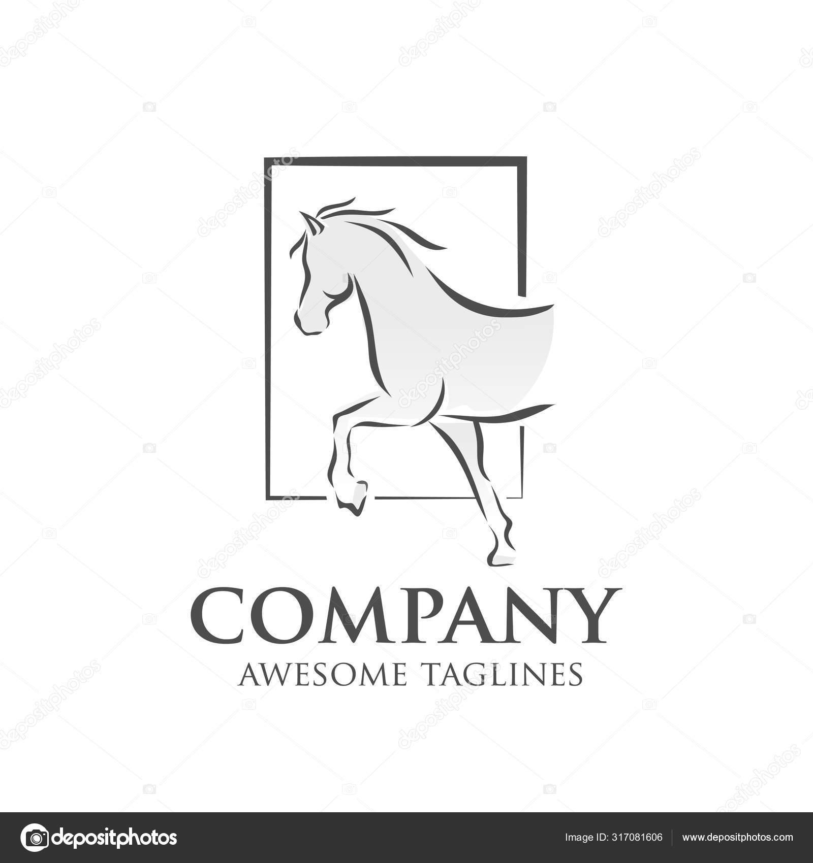 Simple Horse Vector Illustration Best Sport Races Logo Stock Vector C Krustovin 317081606