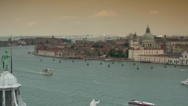 San Marco a Canal Grande ze San Giorgio Maggiore Tower, Ultra HD 4k, reálný čas, Lupa