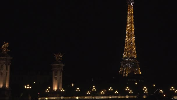 Editorial-PARIS - MAY 2016: Stunning night view of the Pont Alexandre III , ULTRA HD 4k, real time, zoom, night view